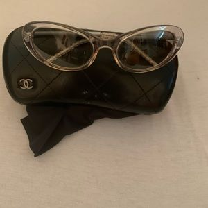 Vintage authentic CHANEL glasses with  CHANEL case